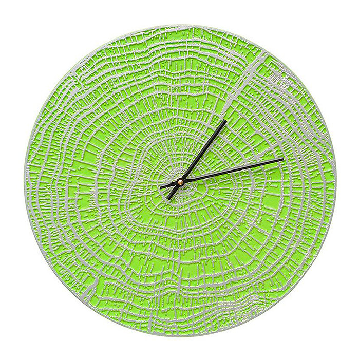 End Grain Contemporary Clock