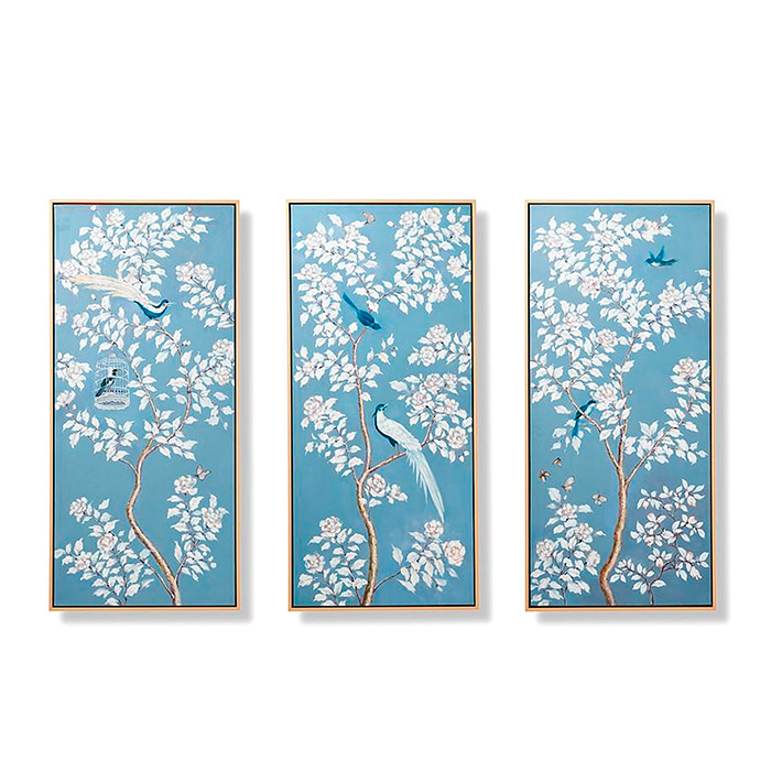 Annette Handpainted Triptych