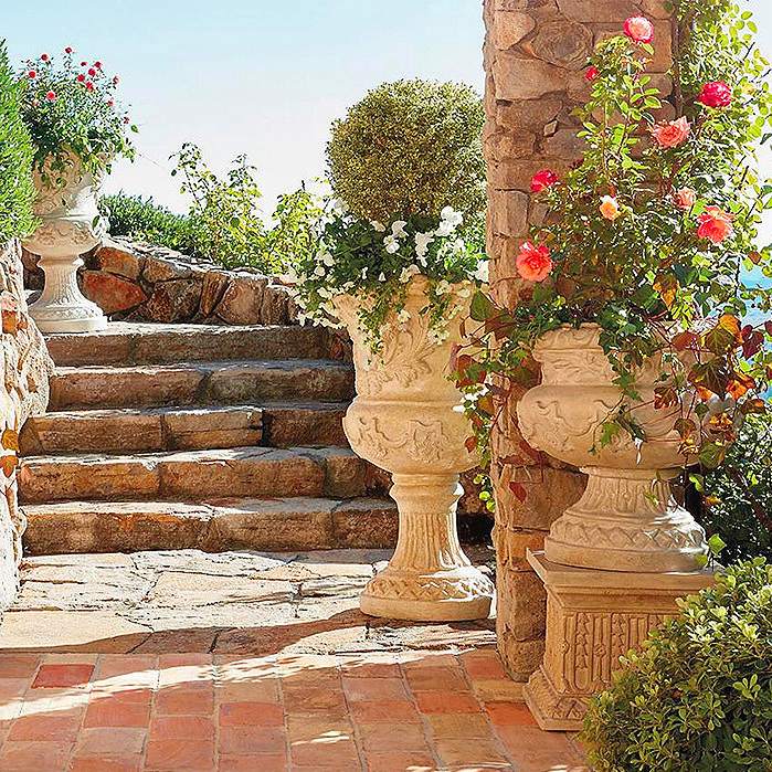 Provence Urns and Plinth