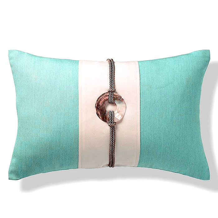 Striped Pearl Shell Indoor/Outdoor Pillow