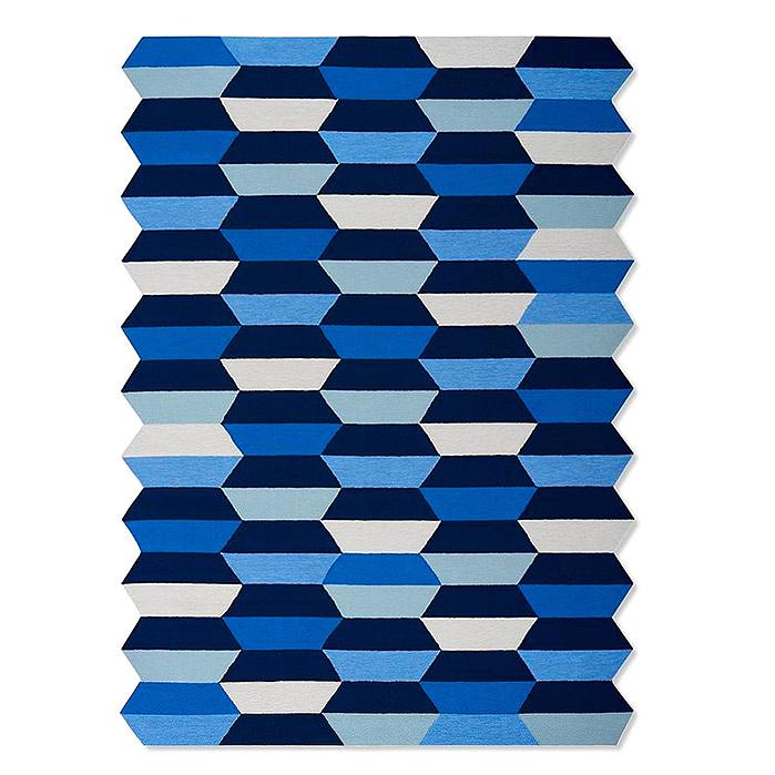Regency Tile Indoor/Outdoor Rug in Indigo