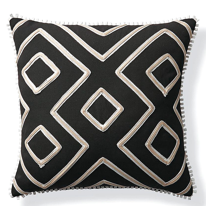 Geometric Columns Outdoor Pillow in Black