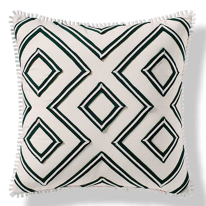 Geometric Columns Outdoor Pillow in Jade