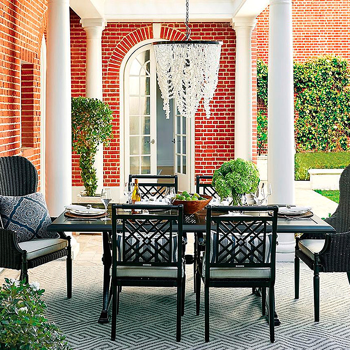 Montserrat 7-pc. Rectangular Dining Set with Wingback Chairs