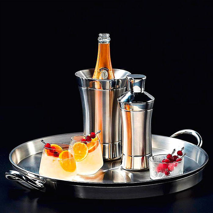 Optima Cocktail Shaker, Wine Cooler & Tray