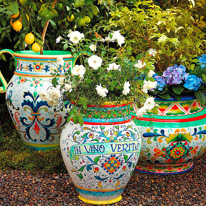 Italian-Inspired Painted Planters
