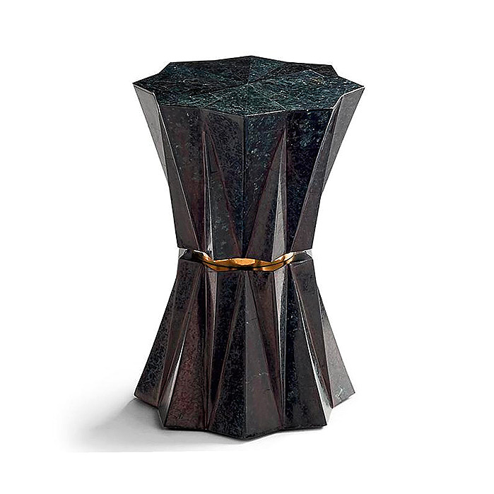 Mila Low Side Table in Black