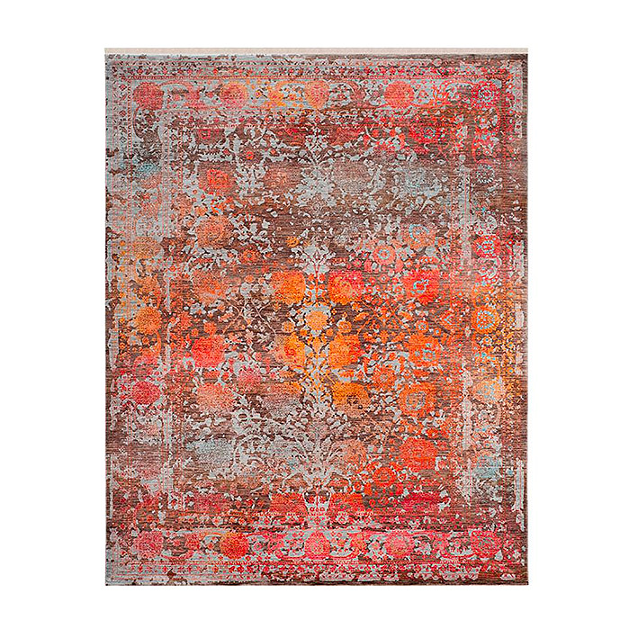 Huntley Easy Care Area Rug in Brown/Multi