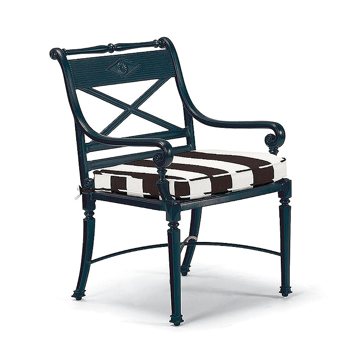 Carlisle Bar & Dining Chair with Cushion in Resort Stripe Black