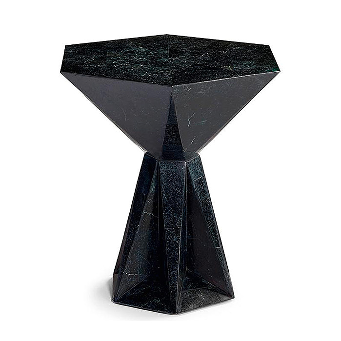 Mila Tall Side Table in Black