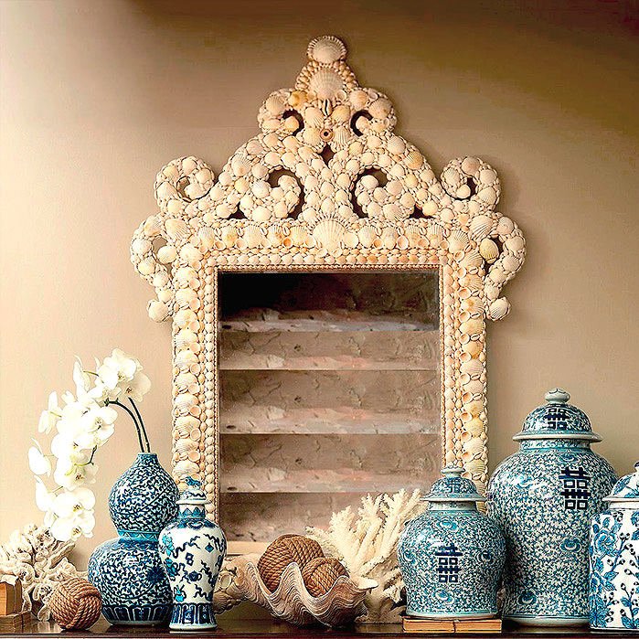 Copy of Marigot Shell Mirror