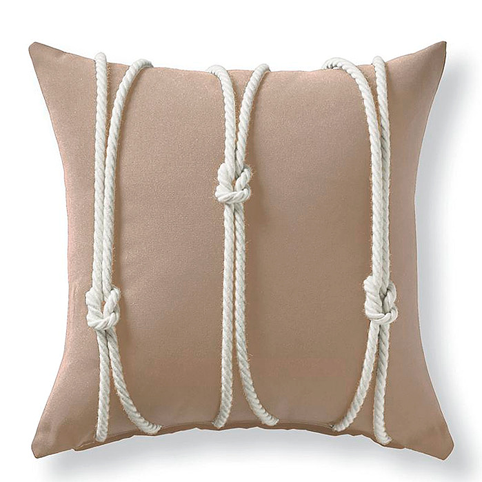 Copy of Yacht Knots Sand Square Outdoor Pillow