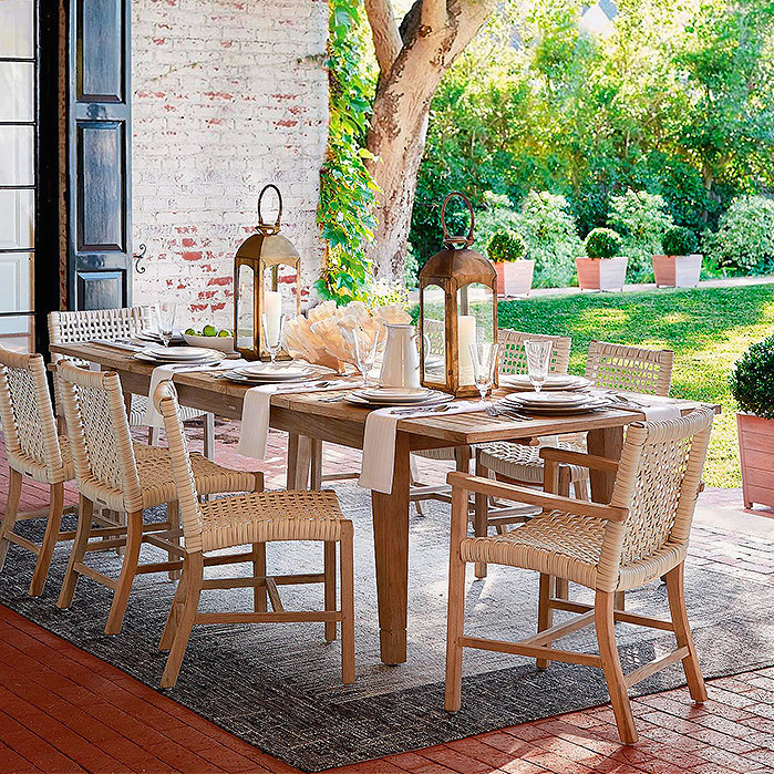 Copy of Isola Dining Isola Dining in Weathered Finish