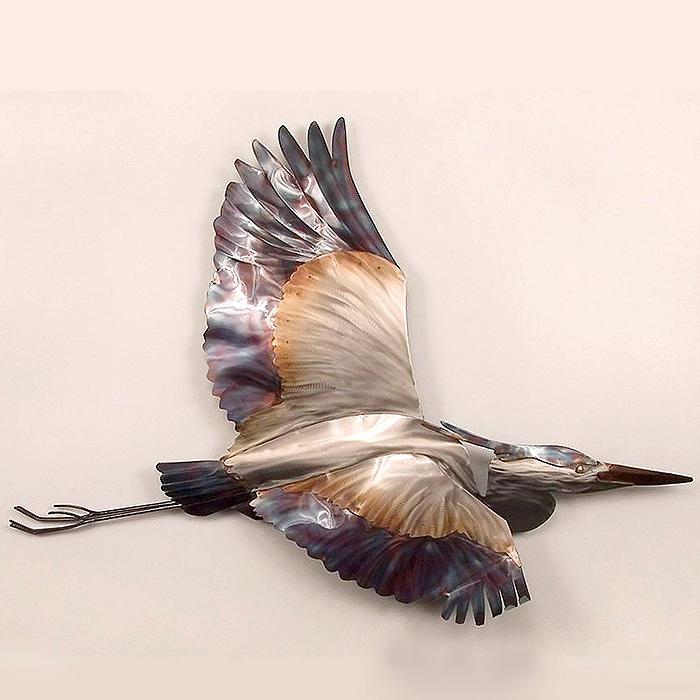 Copy of Blue Heron in Flight Wall Art by Copper Art
