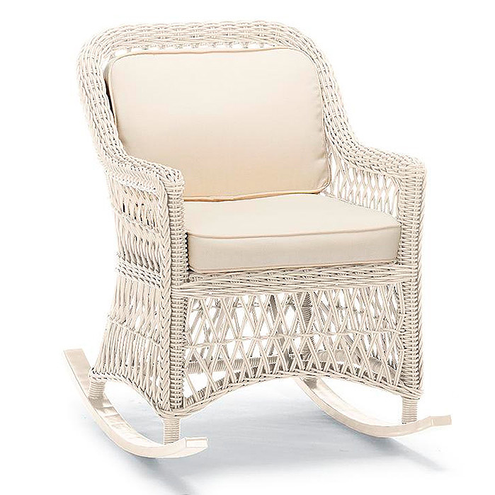 Copy of Hampton Rocker with Cushions in Ivory Finish