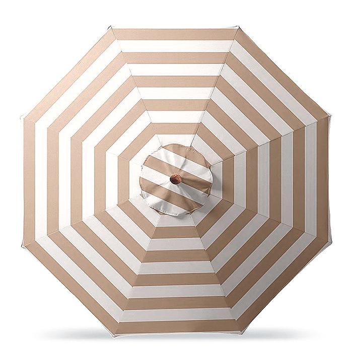 Copy of 11' Round Outdoor Market Umbrella in Resort Stripe Sand