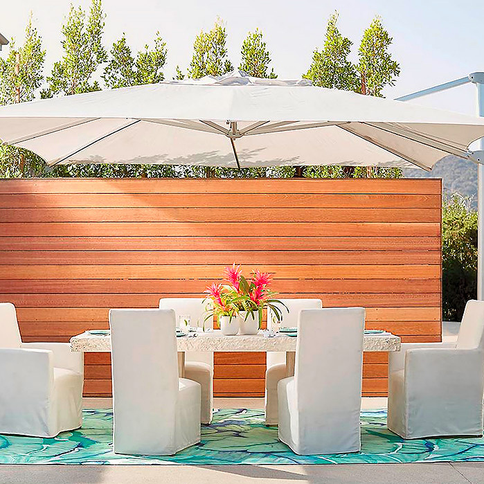 Copy of Altura Cantilever Umbrella & Emerson Dining Arm Chairs