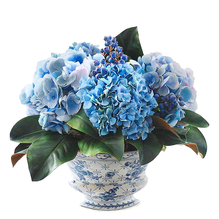Copy of Mixed Hydrangea and Blueberry Chinoiserie