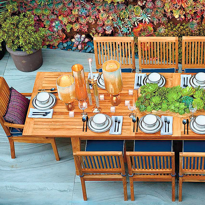 Copy of Cassara Teak Dining Expandable Table in Natural Finish