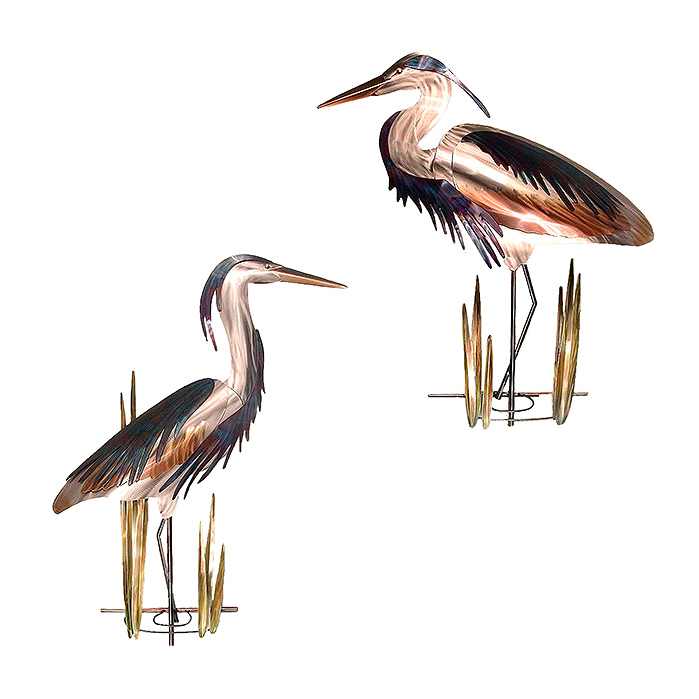 Copy of Blue Heron Outdoor Wall Sculptures by Copper Art