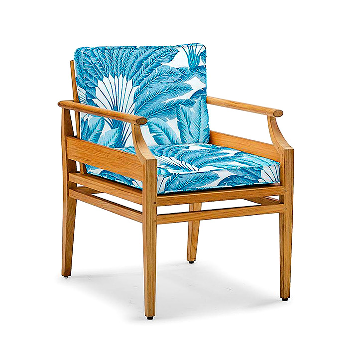 Copy of Tambora Dining Arm Chair with Cushion in Atherton Palm Pacific