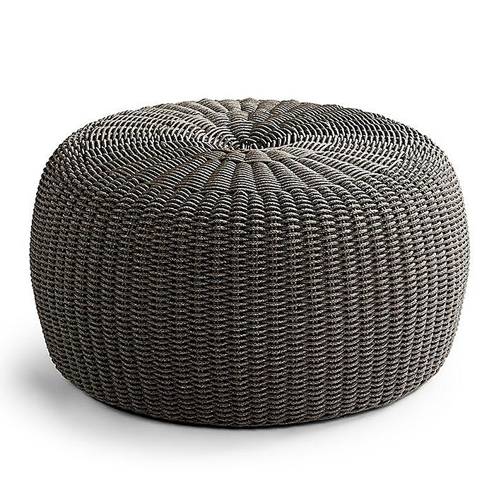 Copy of Hudson Outdoor Pouf Ottoman in Charcoal