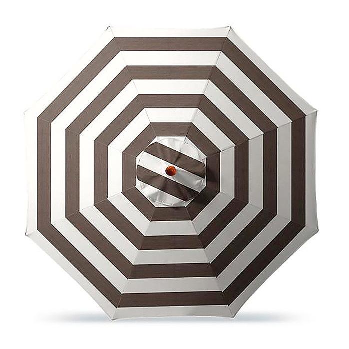 Copy of 9' Round Outdoor Market Umbrella in Resort Stripe Mink