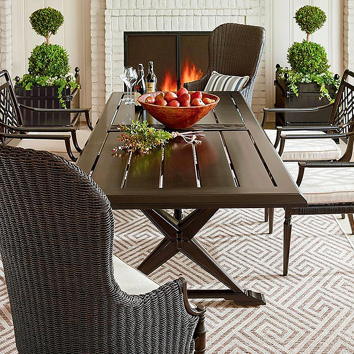 Copy of Montserrat 7-pc. Rectangular Dining Set with Wingback Chairs