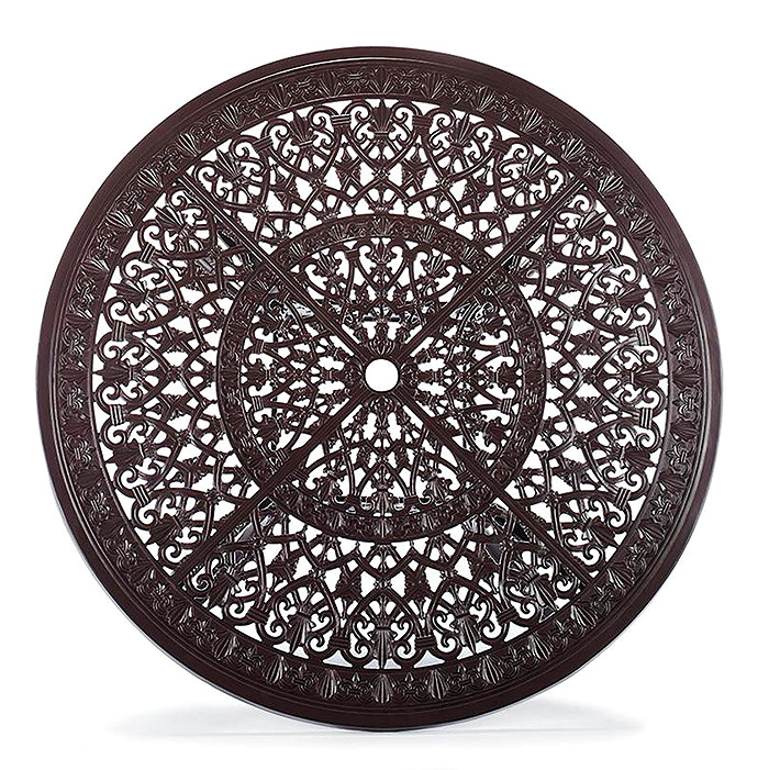 Copy of Orleans Round Dining Table in Chocolate Finish