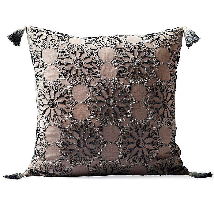 Copy of Suki Melange Beaded Decorative Pillow Cover by Martyn Lawrence Bullard