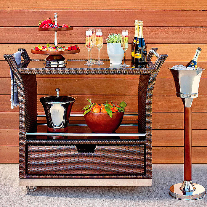 Copy of Ultimate Serving Cart in Chocolate