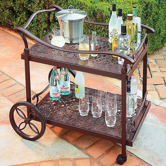 Copy of Orleans Serving Cart in Chocolate Finish