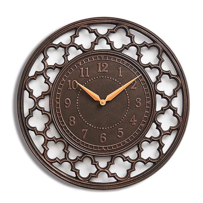 Copy of Quartefoil Clock in Rubbed Bronze