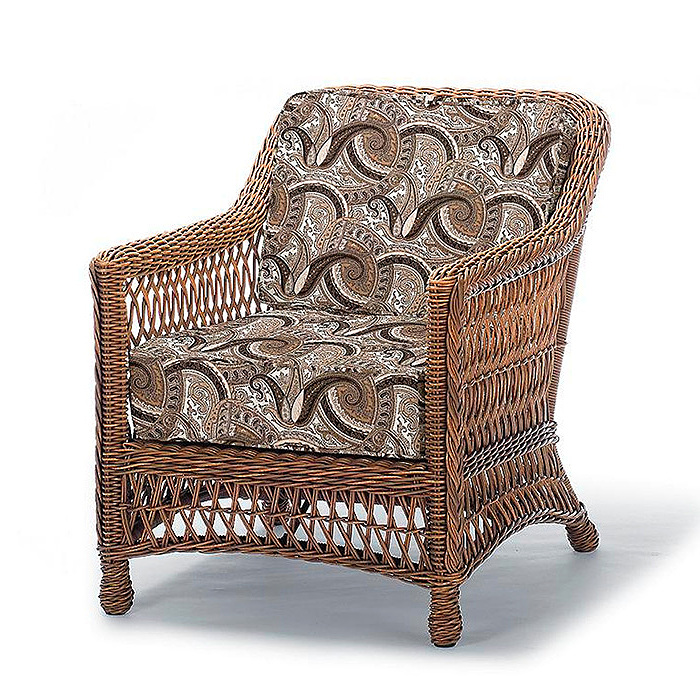 Copy of Hampton Lounge Chair in Driftwood Finish with Cushions in Coachella Taupe