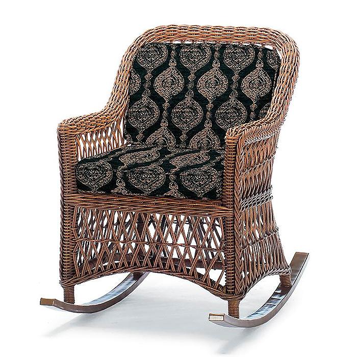 Copy of Hampton Rocker in Driftwood Finish with Cushions in Cadiz Imprint Onyx
