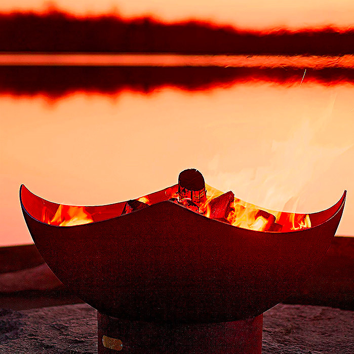 Copy of Manta Ray Fire Pit by Firepit Art