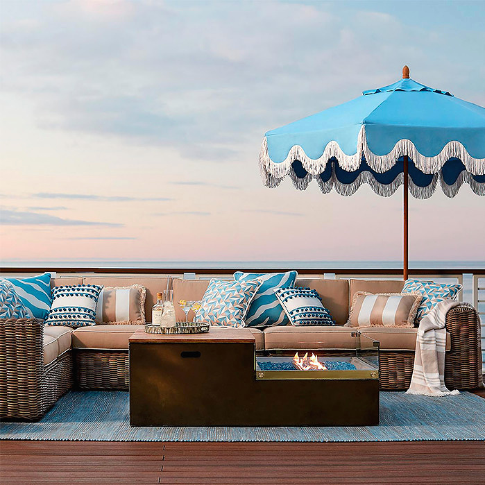 Copy of Milos Air Blue Designer Umbrella