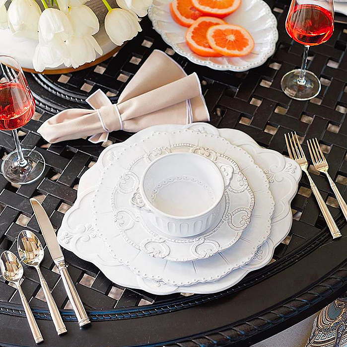 Arte Italica Bella Bianca Dinnerware Collection