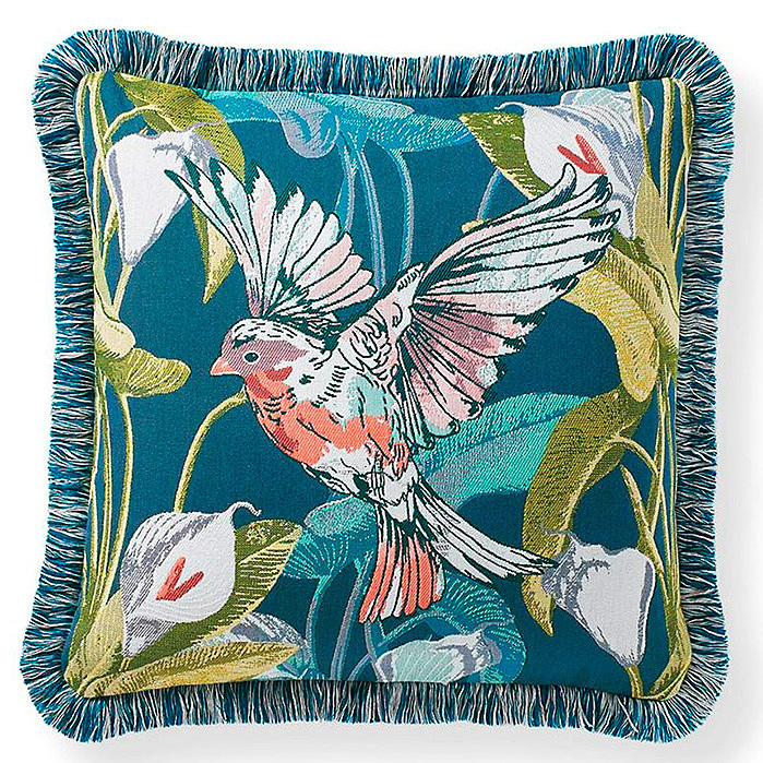 Take Flight Outdoor Pillow in Teal