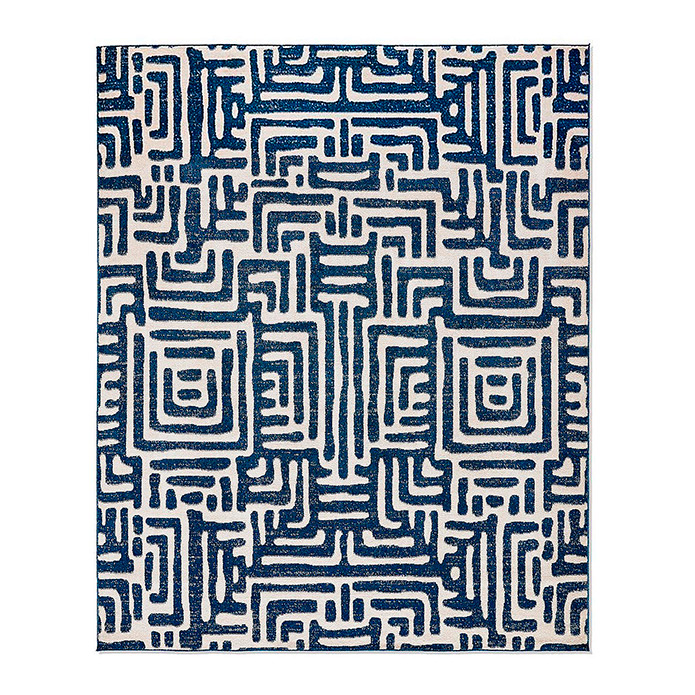 Ayat Indoor/Outdoor Rug in Blue