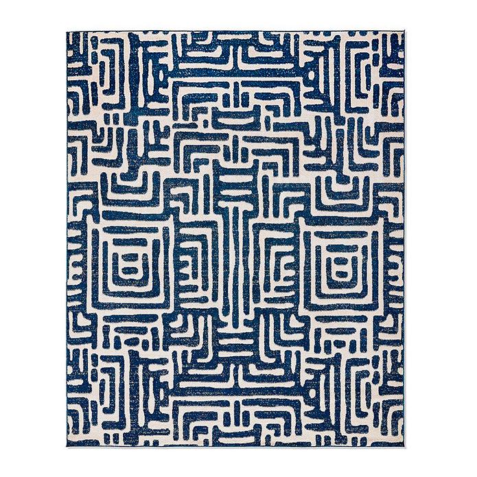 Ayat Indoor/Outdoor Rug in Blue