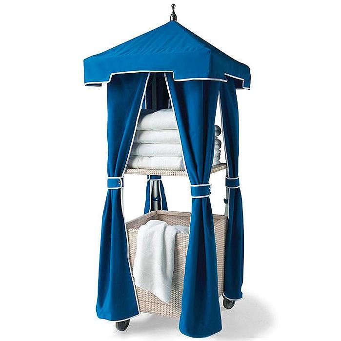 Single Woven Wicker Towel Stand