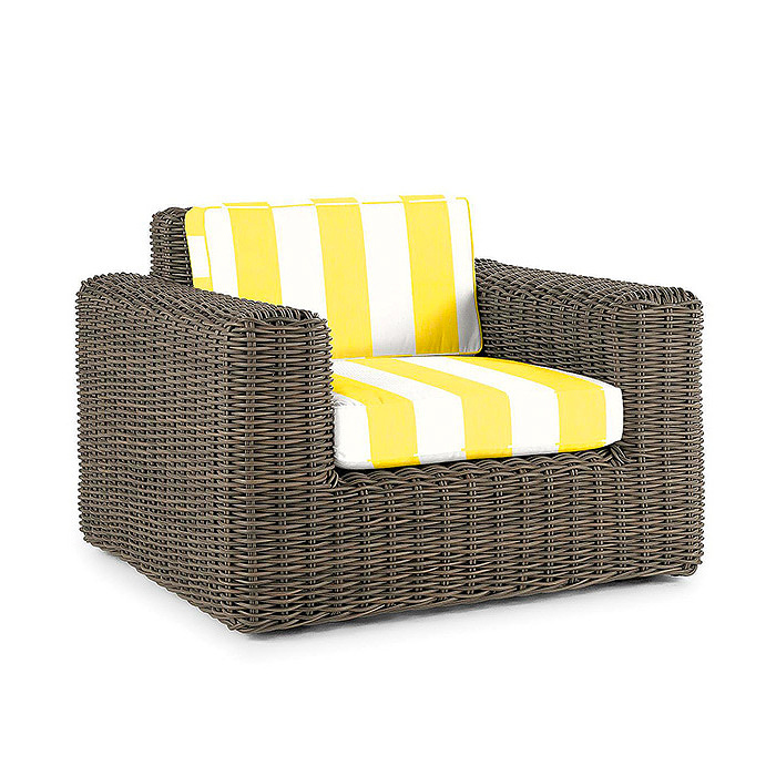 Vista Lounge Chair with Cushions in Resort Stripe Sunshine