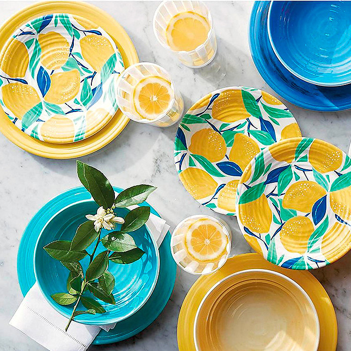 Citrus Grove Melamine Side Plates & Alfresco Melamine Dinnerware Collection