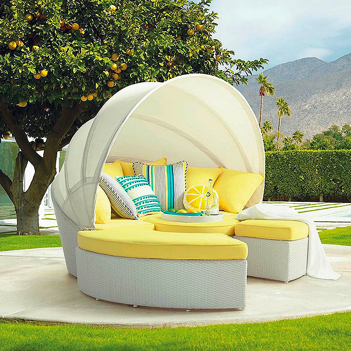 Baleares Five-piece Daybed in White Finish
