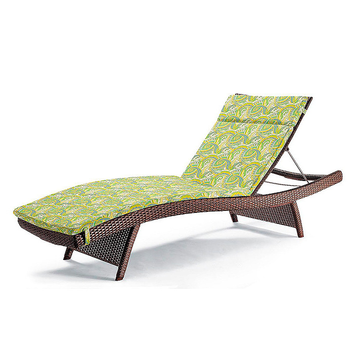 Balencia Bronze Chaise Lounges, Set of Two, Cushion in Coachella Citrus