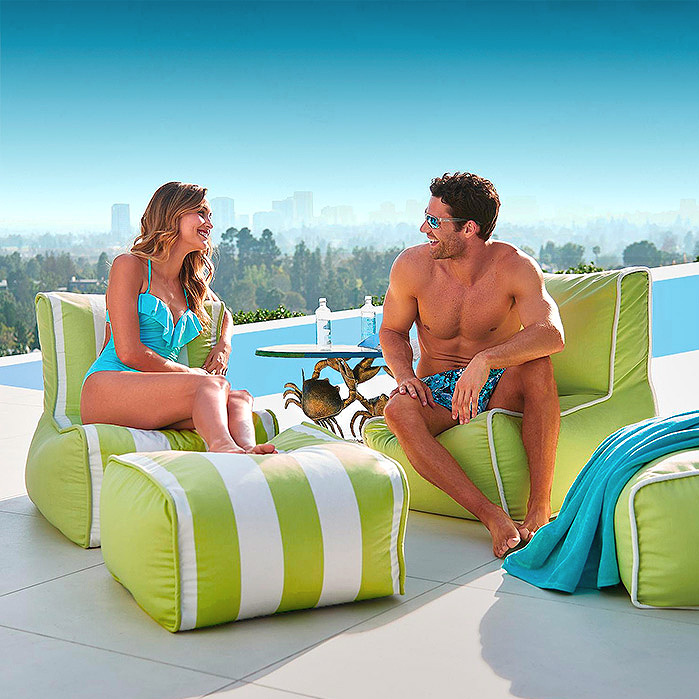 Poolside Lounger and Ottoman