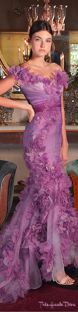Marchesa Resort Pink Sequin-Embellished Tulle Gown