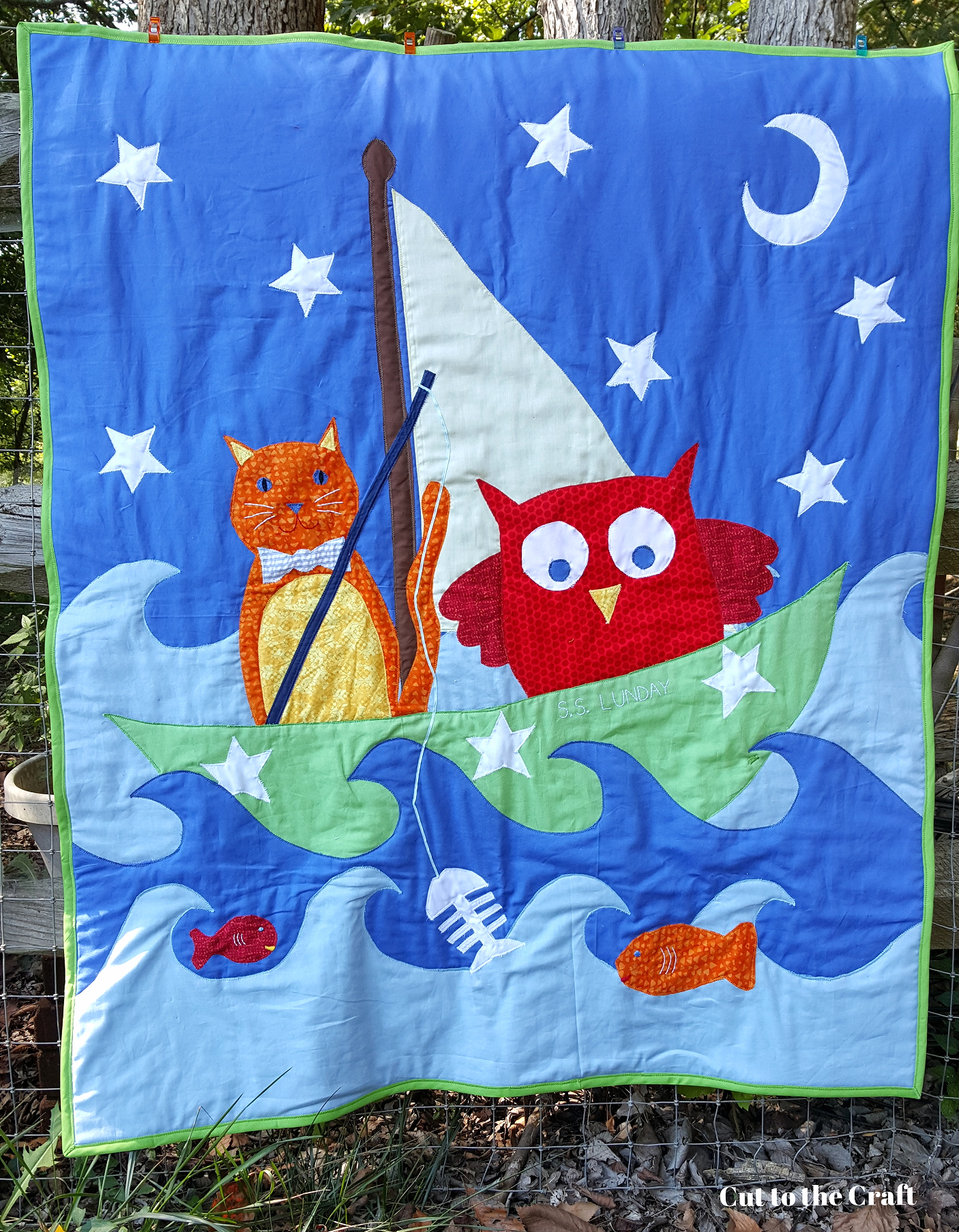 fishing_owl_cat_baby_quilt