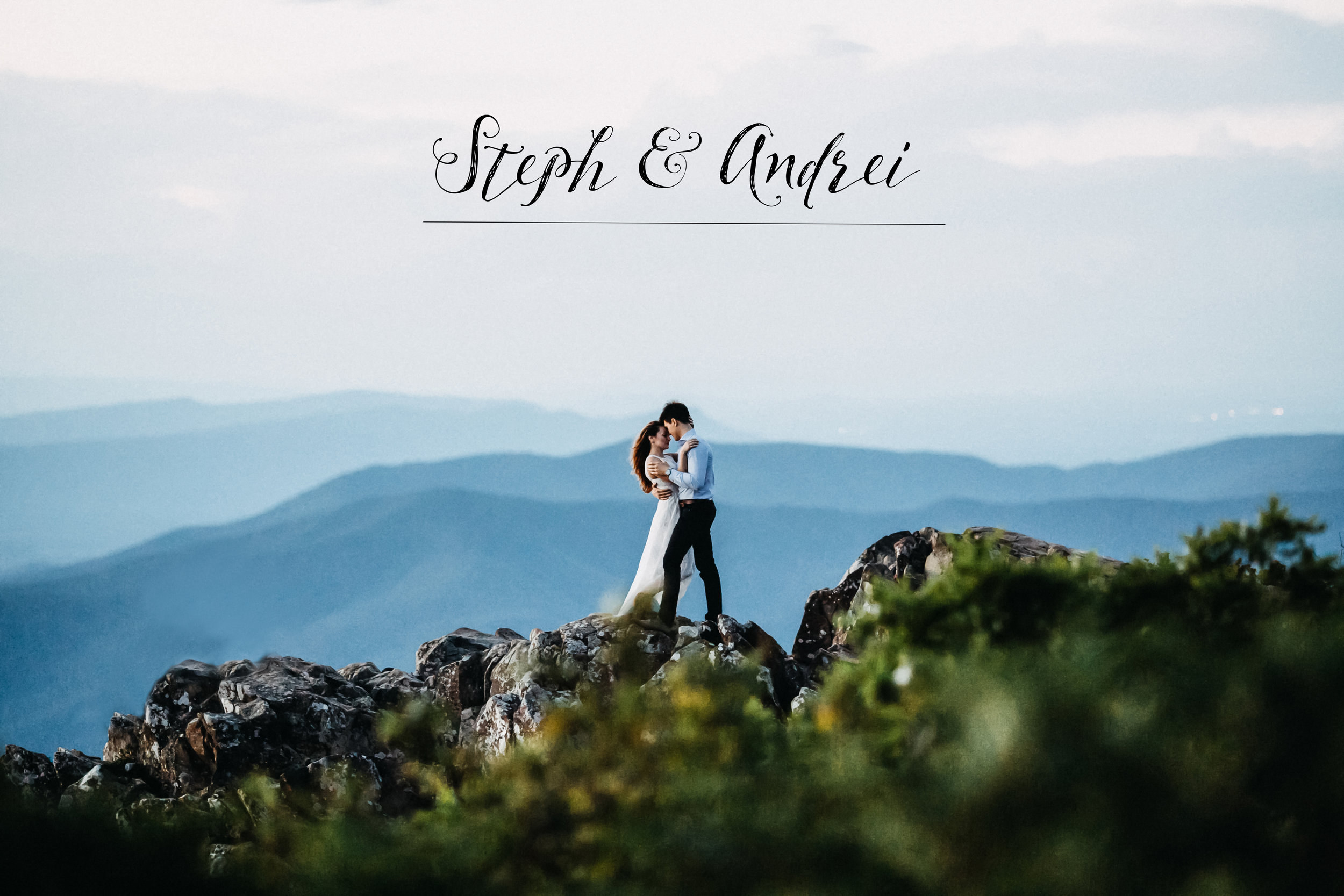 Steph & Andrei {June 30, 2017}    Shenandoah, Virginia   Be inspired by love and passion these two shared with each other on the top of the Shenandoah mountain.  As a storyteller, I wish to capture essence of each moment before it disappears.  The the most precious smile she shares with him, a gentle touch of his hand in her hair to pull her closer for a kiss, a squeeze in his arms...